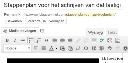 De Zen-modus van WordPress is een onderdeel van de zgn. Kitchen sink plugin en is te vinden onmiddellijk rechts naast de spellchecker. Je scherm wordt volledig in beslag genomen door de tekst van je blogpost en alle meldingen worden tijdelijk geblokkeerd.