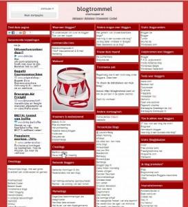 Blogtrommel startpagina met actieve, Nederlandstalige en kwaliteitsvolle weblogs