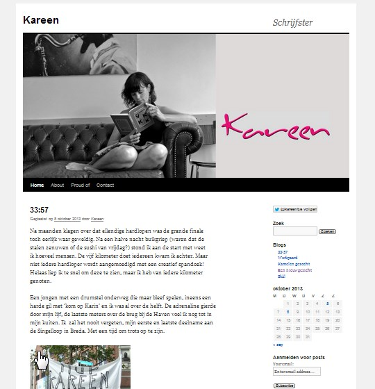 Screenshot Kareen.nl
