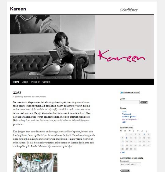 Op de blog af: Kareen