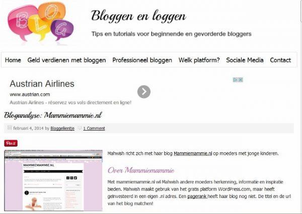 Screenshot interview bloggelientje