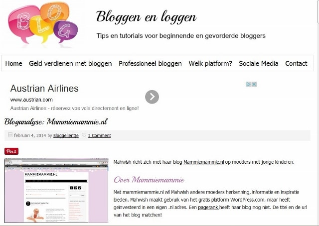 Screenshot interview bloggelientje