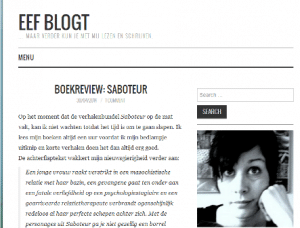 Eef blogt, blogprof, interview met blogger