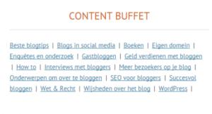 content buffet