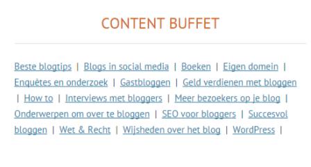 Meer pageviews nodig? Maak een content buffet!