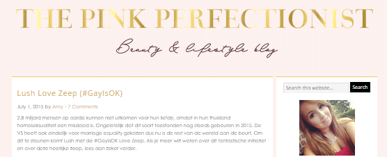 Op de blog af: The Pink Perfectionist